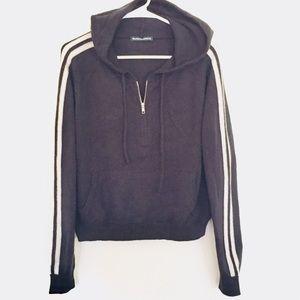 "BRANDY MELVILLE ""JENNA"" knit hoodie one size NWOT"